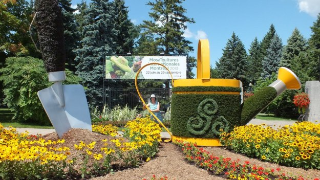 Montreal Botanical Garden Mosaiculture sign - Frame To Frame Bob & Jean