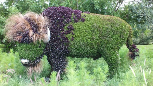 Mother Earth (Bison) - Mosaiculture - Montreal Botancial Gardens
