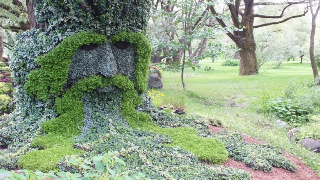Spirits of the Wood - The Green Man -- Mosaiculture - Montreal Botancial Gardens