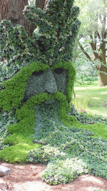 Spirits of the Wood - The Green Man (closeup) - Mosaiculture - Montreal Botancial Gardens