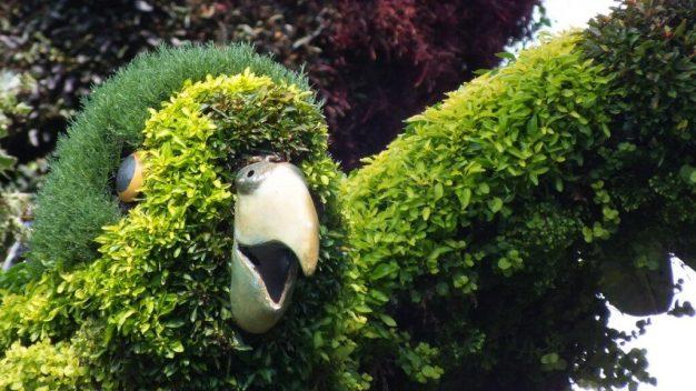 Tree of Birds (green face) - Mosaiculture - Montreal Botancial Gardens