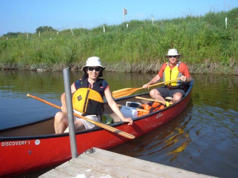 canoeing into minesing wetlands, ontario