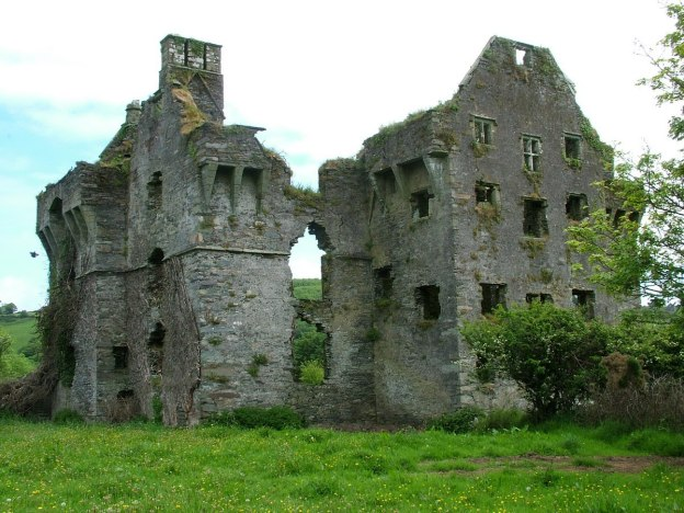 Coppinger's Court ruins, west wall, county cork, Ireland