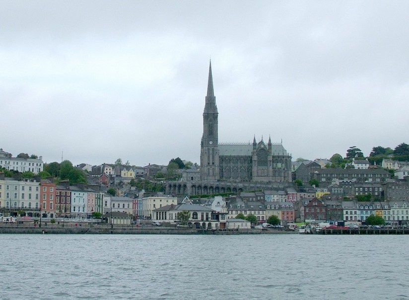 White Star Line Titanic departure dock from water, cobh town, county cork, ireland