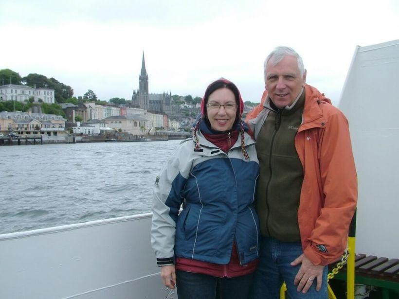 bob & jean depart cobh town, titanic experience, county cork, ireland