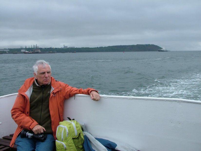 bob near titanic's last anchorage spot off cobh, ireland