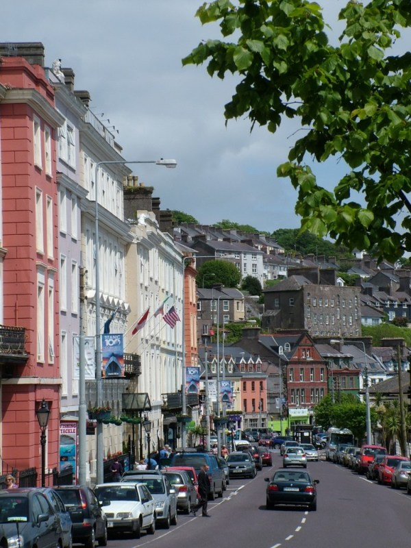 cobh, main street, county cork , ireland