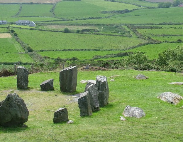 Drombeg Stone Circle in County Cork, Ireland.