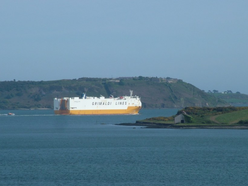 ship departs cobh town, titanic experience, county cork, ireland