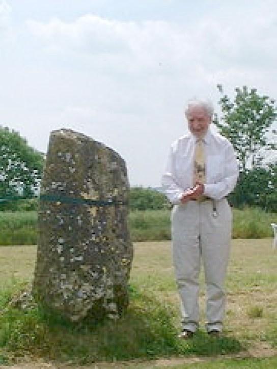 Photograph of Aubrey Burl at the Drombeg Stone Circle in County Cork, Ireland.