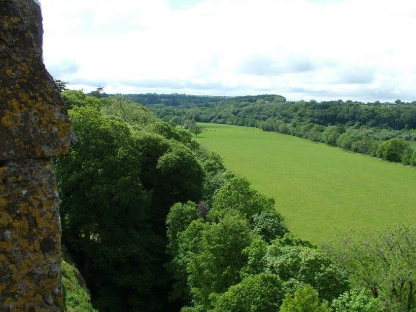 green fields beside blarney castle, ireland