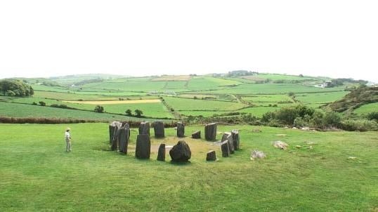 jean checks out the drombeg stone circle, near glandore, county cork, ireland