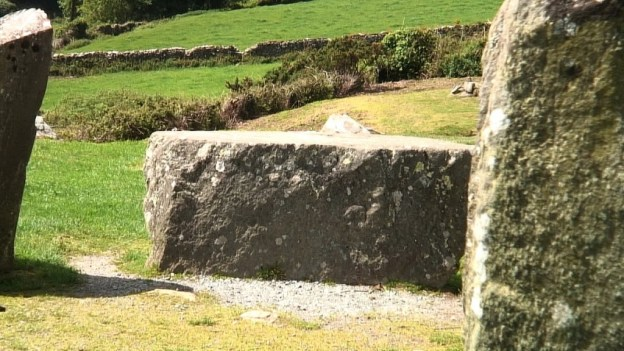 An image of the Recumbent axial stone at the Drombeg Stone Circle in County Cork, Ireland.  Photography by Frame To Frame -  Bob and Jean