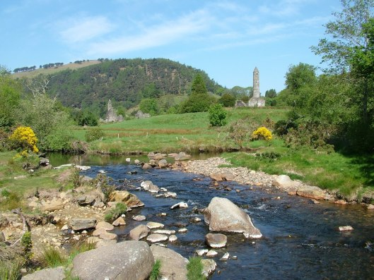 An image of Glendalough in the Wicklow Mountains in Ireland.