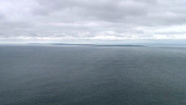 aran islands seen from cliffs of moher