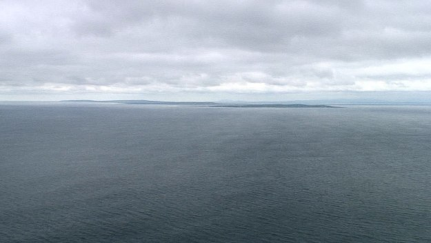 aran islands seen from cliffs of moher