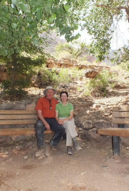 bob and jean at indian garden, grand canyon 2