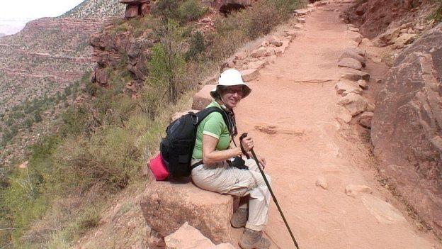 jean climbing up bright angel trail 34