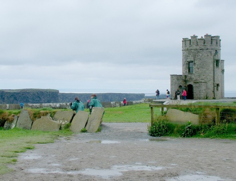 O'Briens Tower the highest point at the Cliffs of Moher in County Clare, Ireland