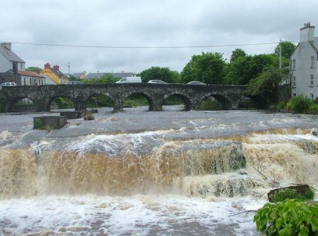 Waterfalls and stone bridge in Ennistymon, County Clare, Ireland
