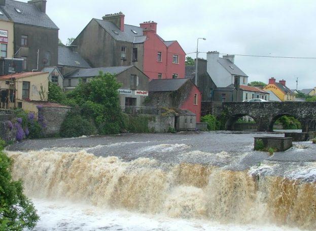 The Cascades waterfalls in Ennistymon, County Clare, Ireland