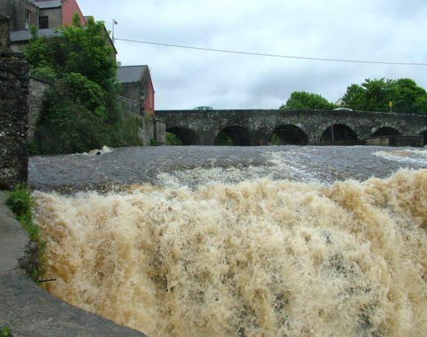 The Cascades waterfalls edge in Ennistymon, County Clare, Ireland