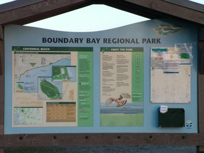 boundary bay park sign - BC