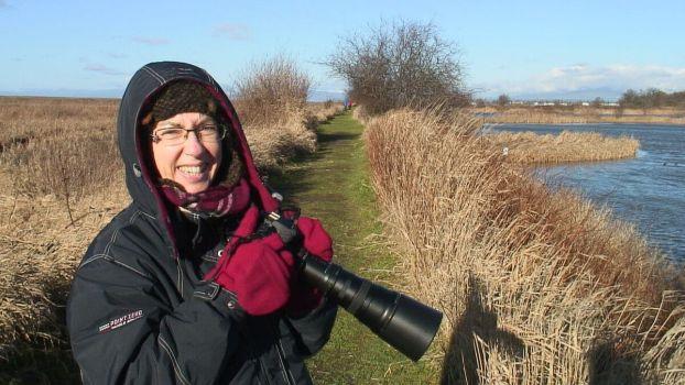 Jean at Reifel Migratory Bird Sanctuary in Delta, BC, Canada.