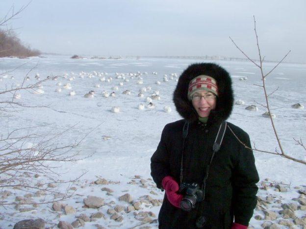 Jean in the winter at La Salle Park in Burlington, Ontario