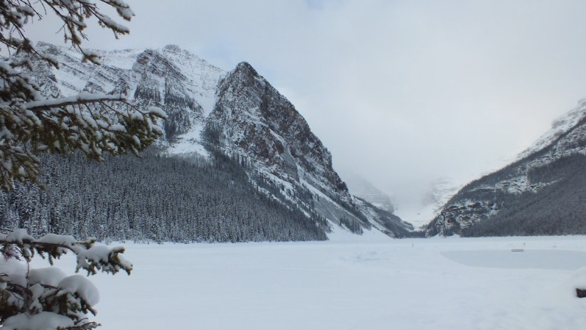 Lake Louise in winter - Alberta - frame to frame bob and jean