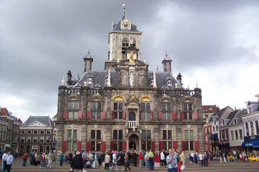 city hall in delft - the netherlands