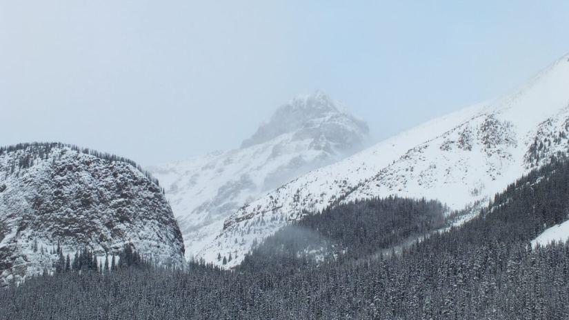 mountain tops, Lake Louise, Alberta