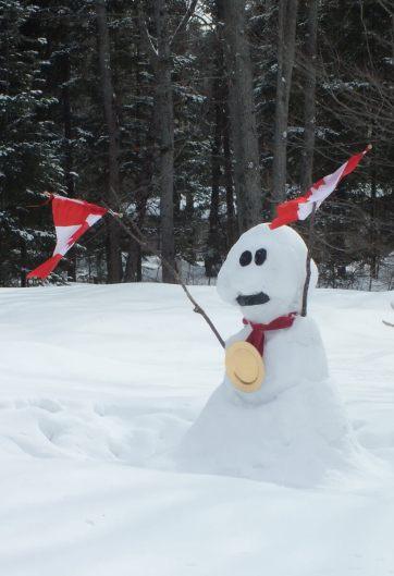 olympic snowman - huntsville ontario