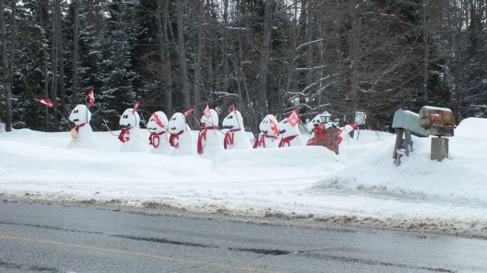olympic snowmen - huntsville ontario