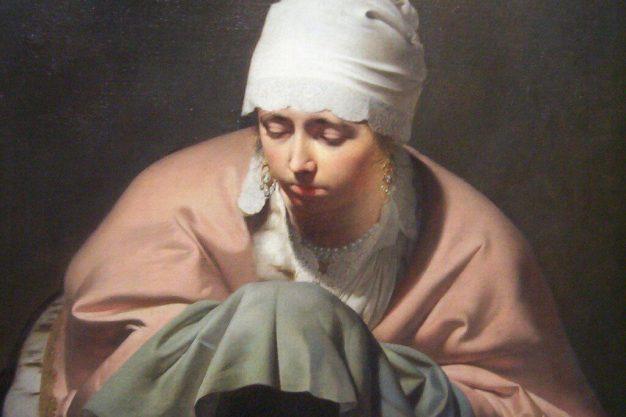 painting - young woman warming her hands - by everdingen - rijksmuseum