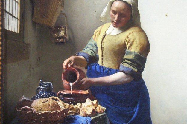 the milkmaid by johannes vermeer - rijksmuseum