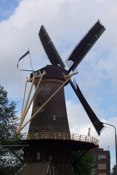 windmill de roos - delft - the netherlands