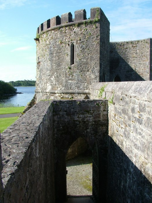 An image of a turret and the walls of Ashford Castle in County Mayo, Ireland. Photography by Frame To Frame - Bob and Jean.