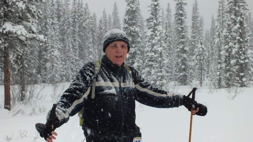 bob on the pipestone ski trail in winter - banff national park 4