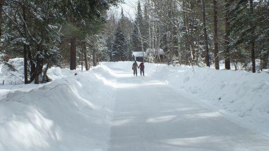ice skating trail - arrowhead provincial park - ontario 2