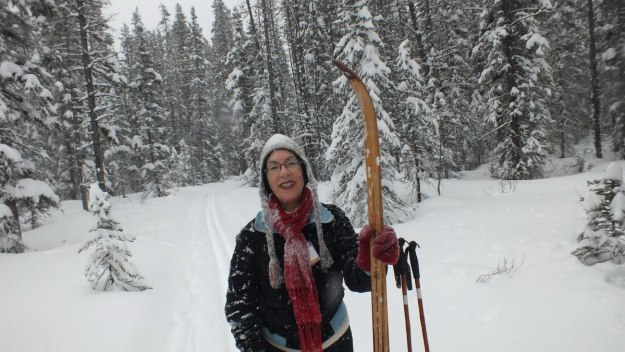 jean on the pipestone ski trail in winter - banff national park 2