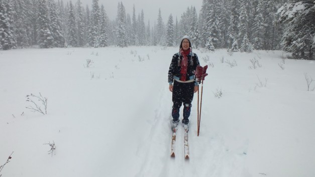 jean on the pipestone ski trail in winter - banff national park 3