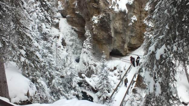 johnston canyon in winter - banff 6
