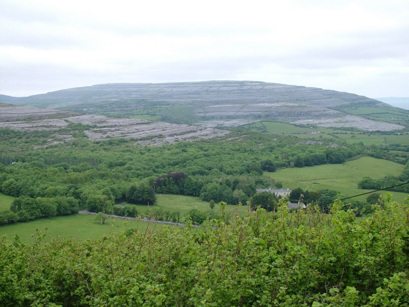 limestone mountain at the burren in county clare - ireland