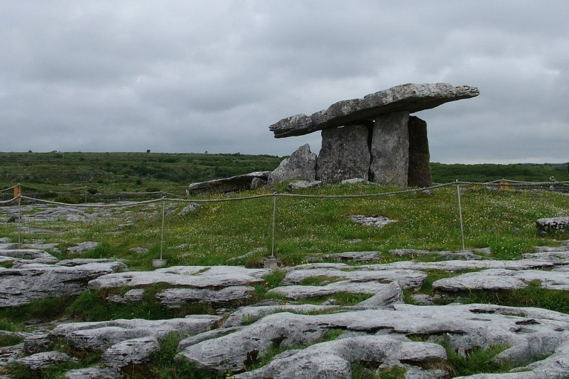 poulnabrone dolmen in the burren - county clare - ireland 4
