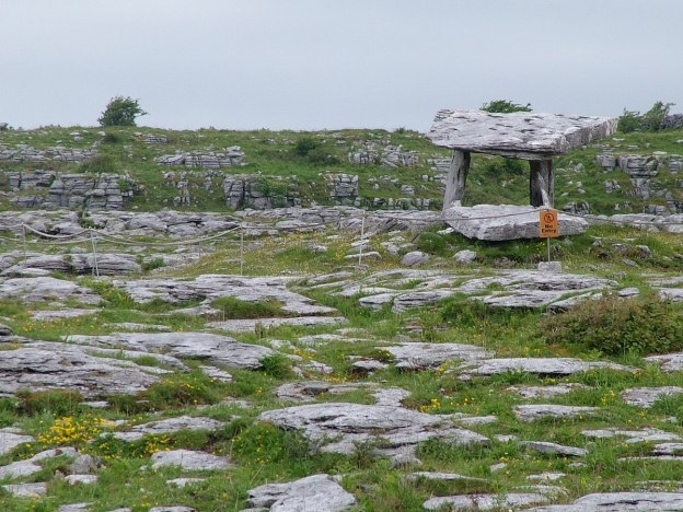 poulnabrone dolmen in the burren - county clare - ireland 9