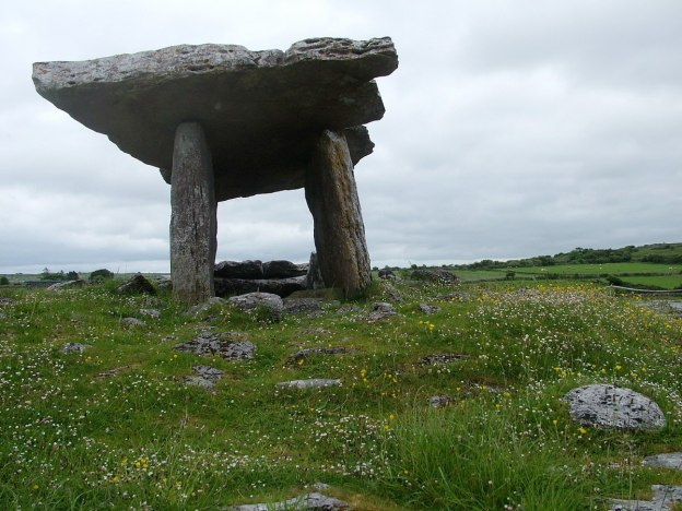 poulnabrone dolmen in the burren - county clare - ireland