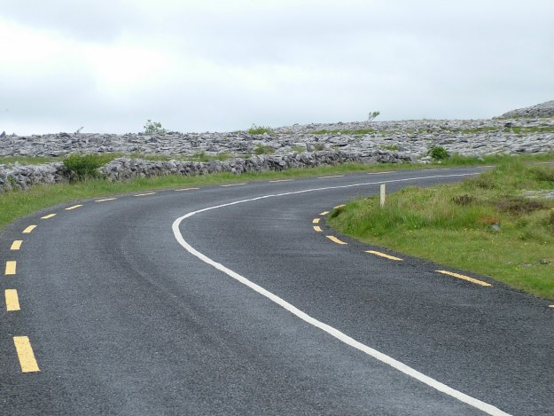 road through the burren in county clare - ireland