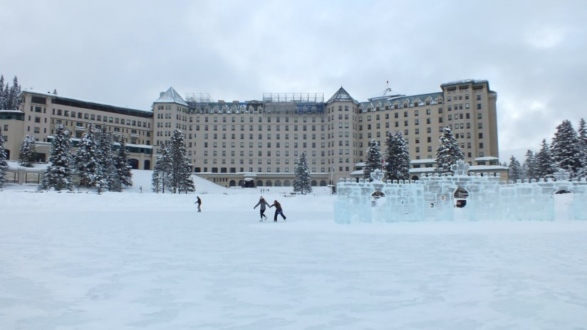 Chateau Lake Louise in the winter at Banff National Park, Alberta, Canada