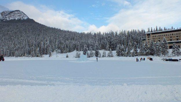 Skating rink at Lake Louise in Banff National Park, Alberta, Canada